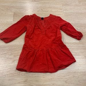 Red corduroy dress